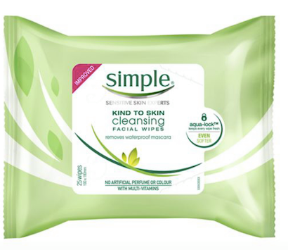 SIMPLE clear skin oil balancing cleansing wipes 25wipes