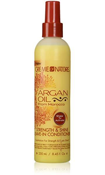 CREME OF NATURE w/ ARGAN OIL Strength & Shine Leave-In Conditioner 250ml