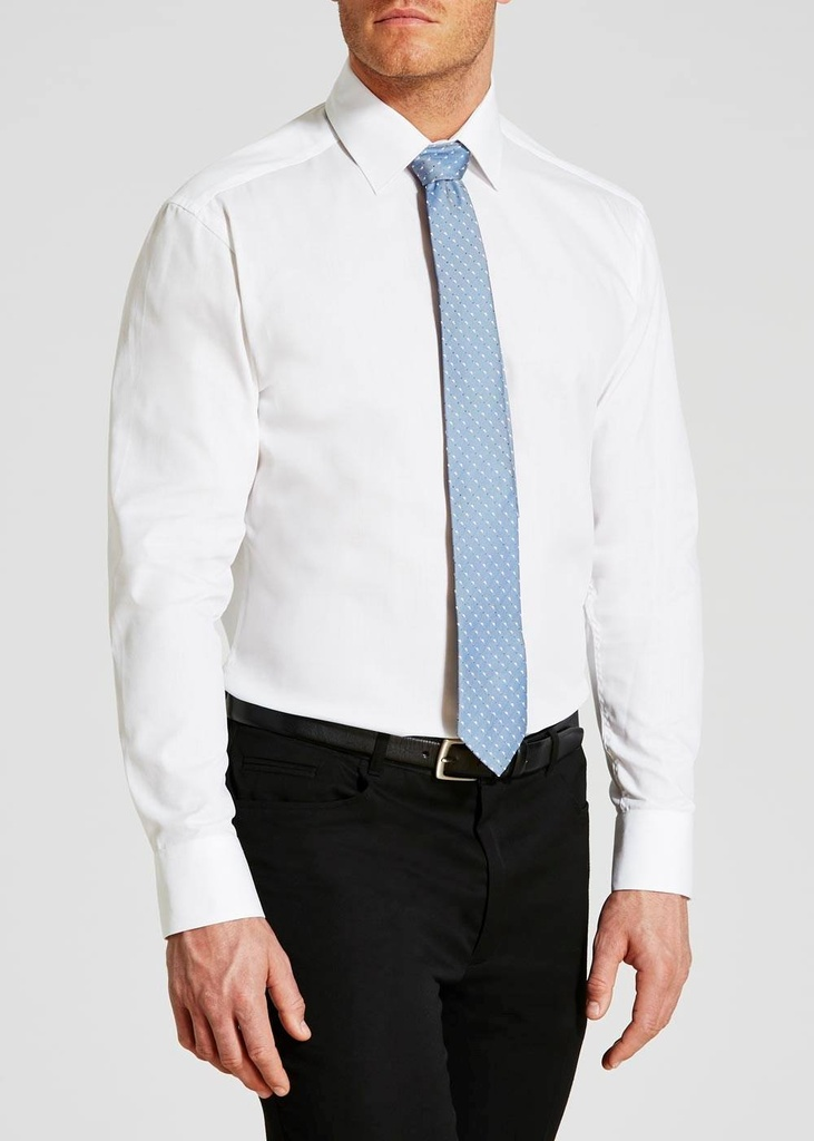 T&W Regular  Fit Herringbone Long Sleeve w/ Tie (SH00044)