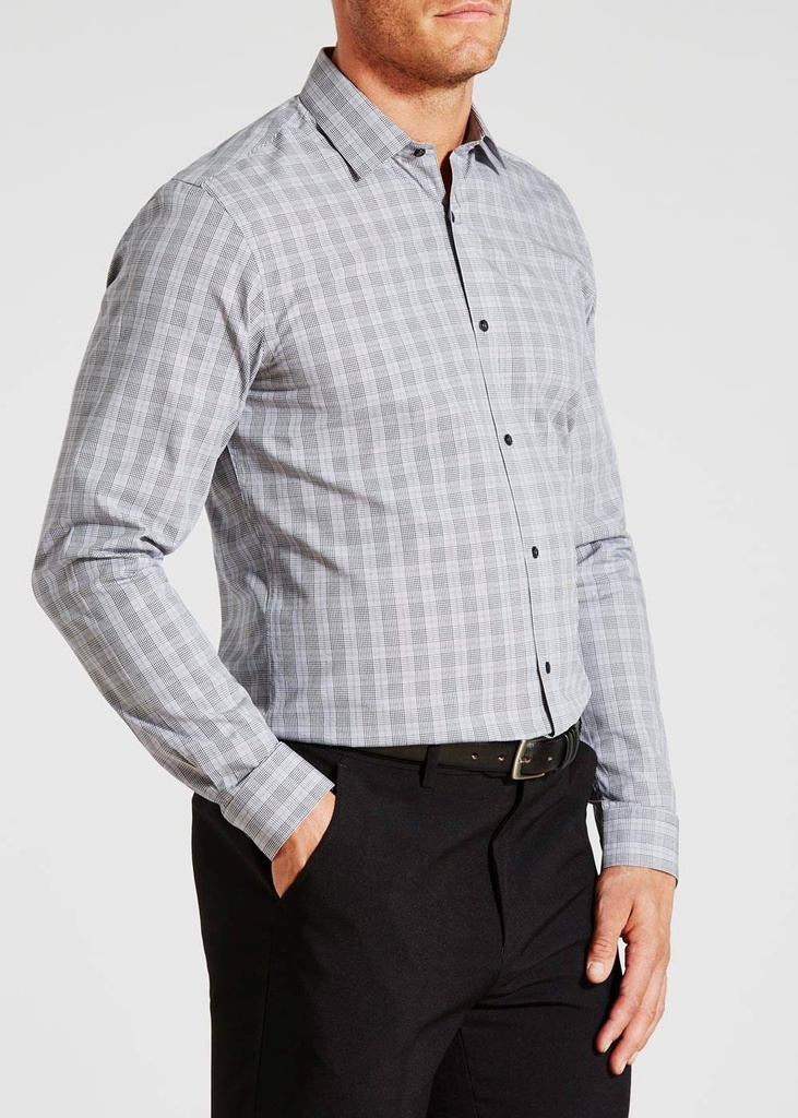 T&W EASY TO IRON PRINCE OF WALES SHIRT (SH00043)