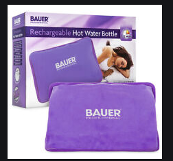 [38920] BAUER - Rechargeable Electric Hot Water Bottle