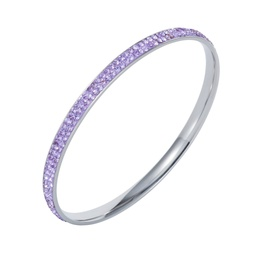 Crystal bangle, blue sapphire, white, violet