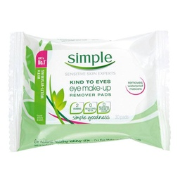 [SIM008] SIMPLE kind to eyes tampons démaquillants 30pads