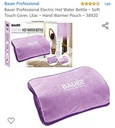 BAUER - Rechargeable Electric Hot Water Bottle