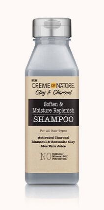 CREME OF NATURE Clay & Charcoal (Adoucir et l'humidité Shampooing Replenish) 355ml