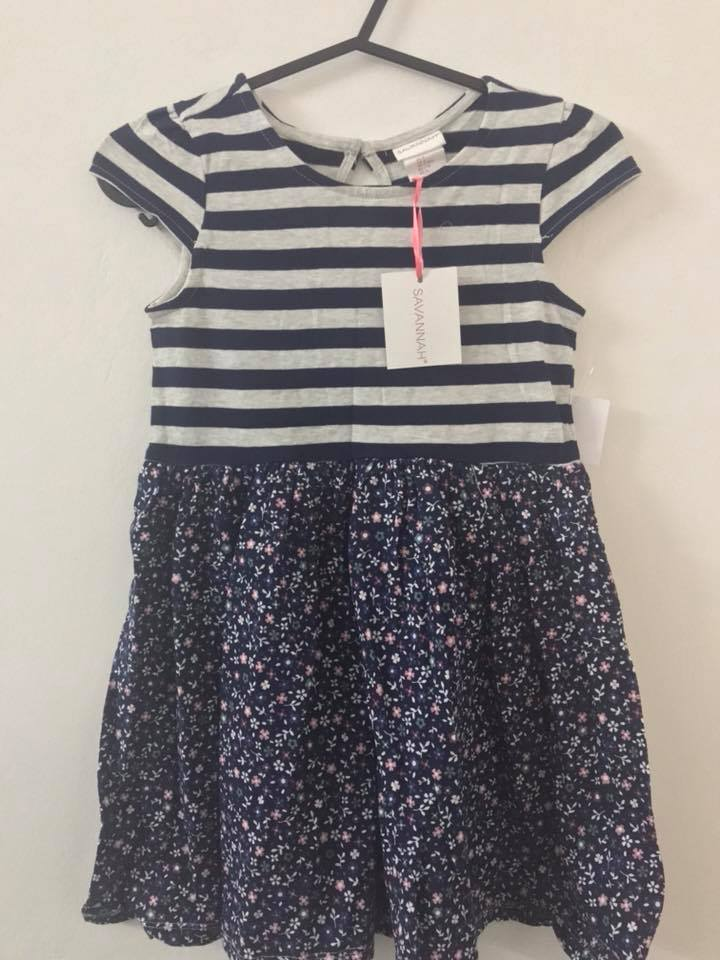 SAVANNAH Pattered Dress (KID0000031)
